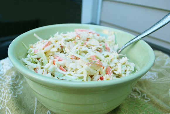Coleslaw with Apple & Yogurt Dressing | A Sunshiny Day